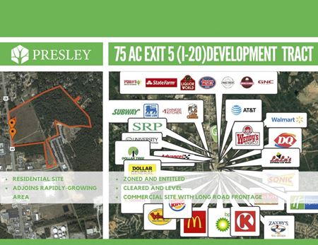 Sweetwater North - 75 acres Commercial and Residential - North Augusta