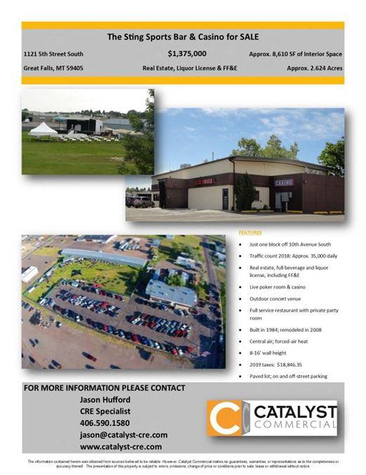 The Sting Real Estate & Liquor License for Sale
