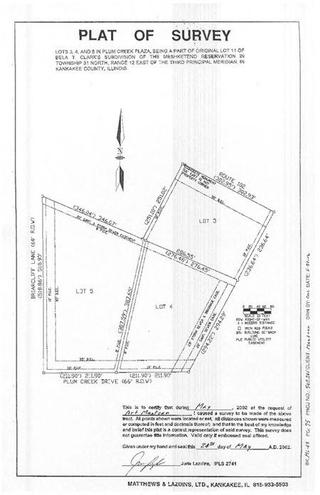 1.67 Acre Lot on Route 102 - Bourbonnais