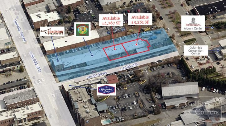Restaurant Space in the Vista on Gervais St - ±4,767 SF and ±3,261 SF Available