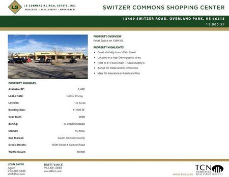 Switzer Commons Shopping Center, Space F - Overland Park