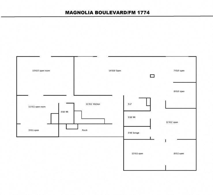 +/- 1,750 SF Retail/Office Building in Magnolia