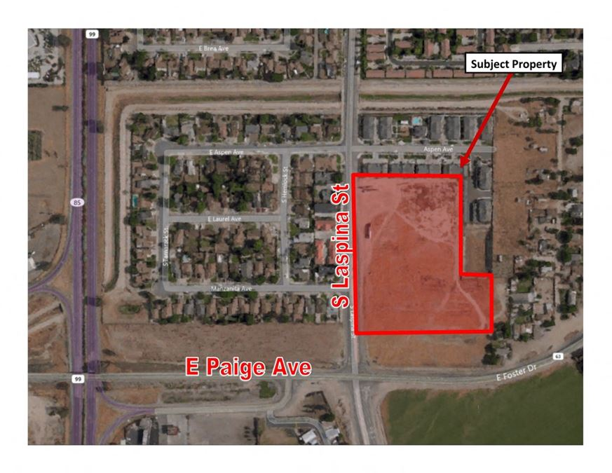 Prime Commercial Land off CA-99 and Paige Avenue