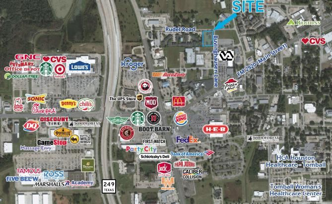 For Sale or Lease   ±1.2725 AC in Tomball, Texas