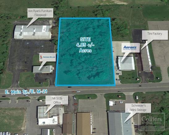 4.85 Acres VL Main St., Owosso, MI 48867
