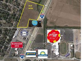 14.4 Acres Commercial Land Along I-40/ I-55 - West Memphis
