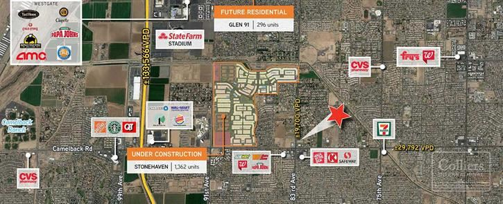 Retail Pad for Ground Lease or Build-to-Suit in Glendale Arizona