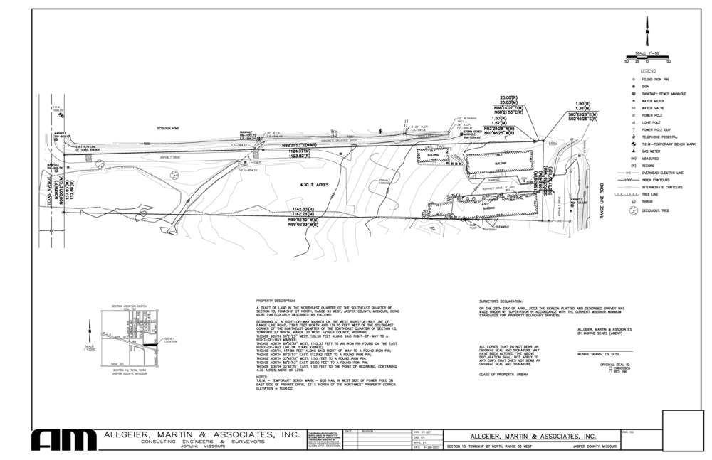 4.3  acres on Rangeline in Joplin ($3 / Sq Ft)