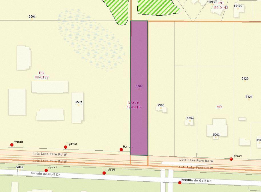 Zoned RSC-4 -  2   AC Land on Lutz Lake Fern Rd Near TPC