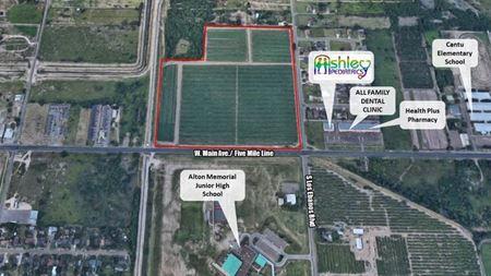 33.82 Acres at Main (Five Mile) & Los Ebanos-Alton - Alton