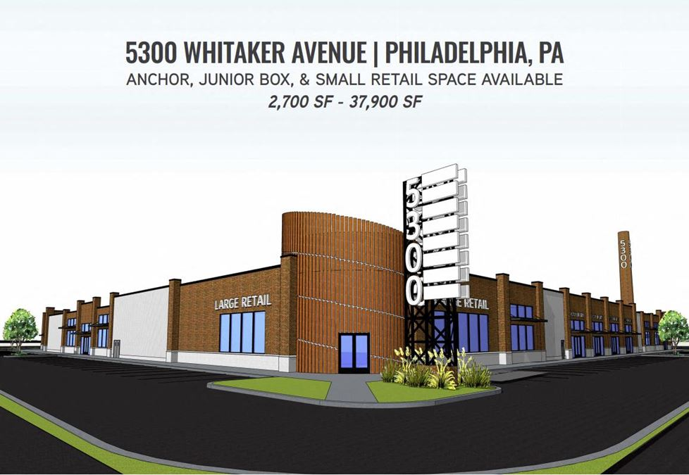 Anchor, Large, and Small Retail Spaces Available