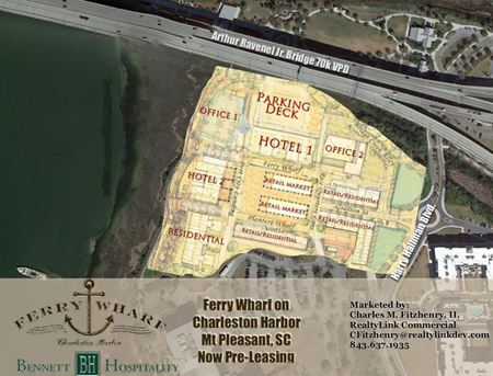 Ferry Wharf on Charleston Harbor - Mount Pleasant