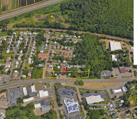 """Great Development Opportunity """" Branford Hill"""". Ground Lease -This Route 1 location consists of 4 parcels 510 ,530, 544 & 558 West Main St - .95 Acres 508 ' Rt 1 Frontage - Branford"""