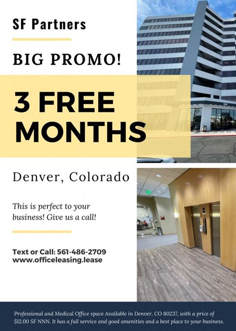 1133 SF Professional and Medical Office Space in Denver, CO 80237