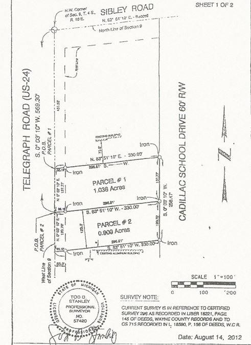 Telegraph Vacant Land Brownstown