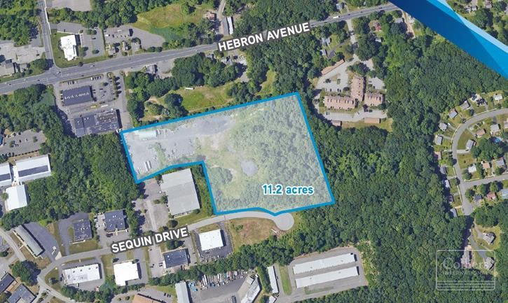 11.2 Acre Industrial Zoned Site For Sale in Glastonbury, CT