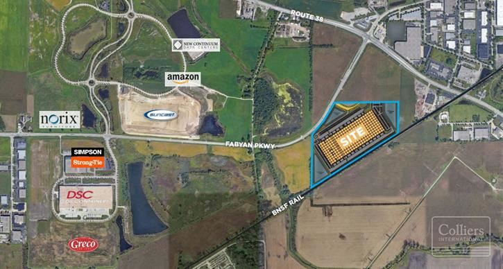 New BTS Opportunity, 50 acres w/ BNSF Rail, West Chicago