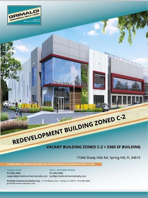 Redevelopment Building Zoned C-2