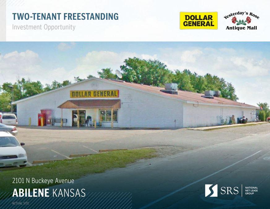 Abilene, KS - Dollar General & Antique Store