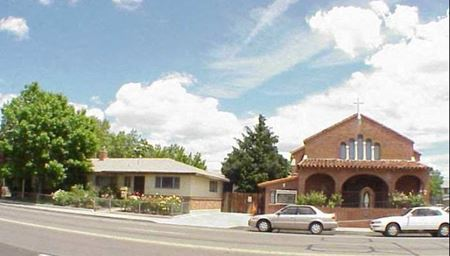 Historic Spanish Colonial-Style Church and Parking Lot For Sale - Sparks