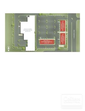 Outparcel opportunity for sale or lease with up to 20,000 SF Available
