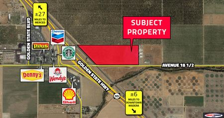 ±15.98 Acres CA-99 Highway Commercial Land - Madera