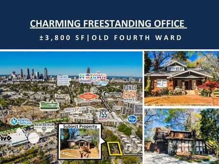 Charming Freestanding Office | Prime Old Fourth Ward Location | ±3,800 SF - Atlanta
