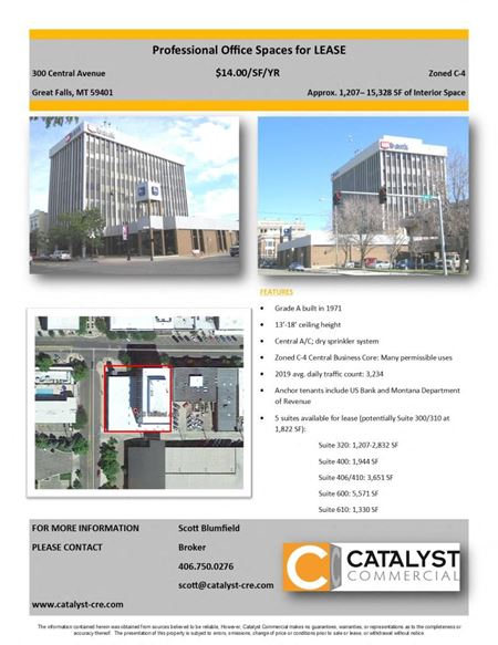 US Bank Suites for Lease - Great Falls