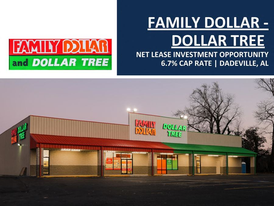 Family Dollar - Dollar Tree Net Lease Investment   6.7% Cap Rate