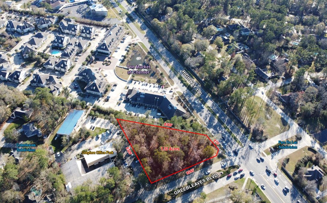 Lot 15-A1, Hwy 190 & Greenleaves Blvd.