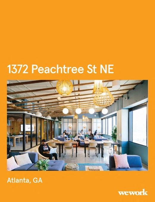 WeWork   1372 Peachtree St NE