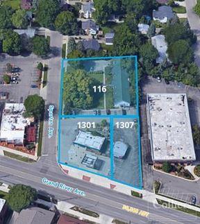Prime development opportunity - 1301 & 1307 E. Grand River Ave.