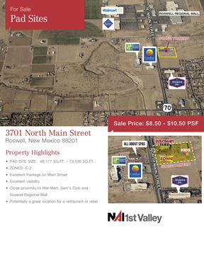RETAIL PAD SITE FOR SALE - Roswell
