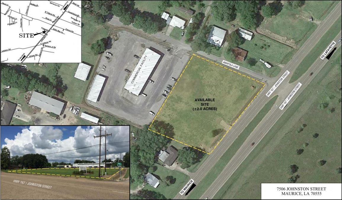 Available Land on Johnston St.