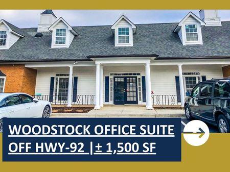 Woodstock Office Suite Off Hwy-92 | ± 1,500 SF - Woodstock