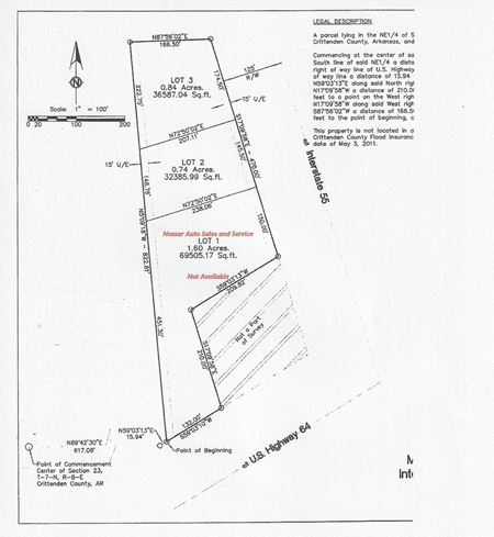 Two Lots Available for Sale I-55 Service Road and Highway 64 - Marion
