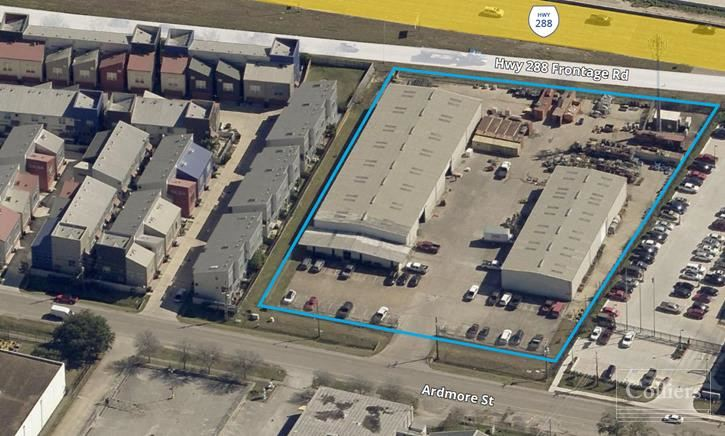 For Lease   Two Industrial Buildings with Frontage and High Visibility on Highway 288