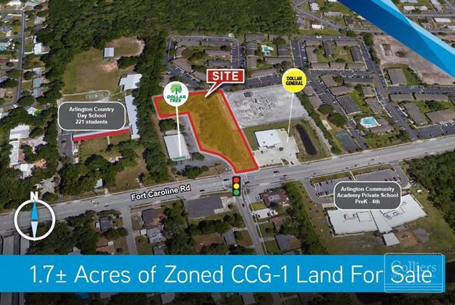 1.7± Acres of Zoned CCG-1 Land For Sale