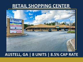Retail Shopping Center in Austell | 8 Units | 7.3% Cap Rate