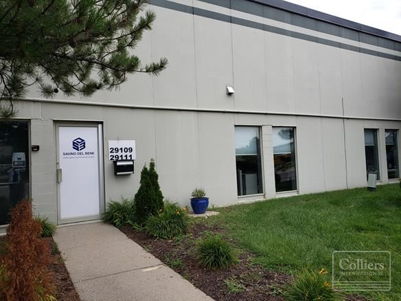 For Sublease > 7,300 SF Office / Distribution Airport Park Romulus Just Minutes From Detroit Metropolitan Airport DTW
