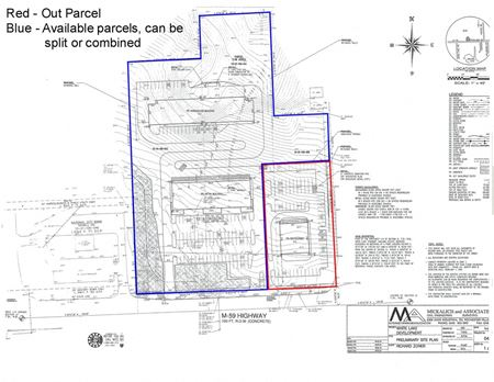 8.20 Acres M-59 - East of Bogie Lake Road - White Lake Township