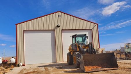 3,200 Sq Ft. Shop On +/-9.85 Acres. Fenced & Stabilized - Williston