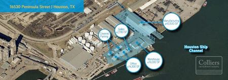 For Lease   ±75,800 SF Available on 7.78 AC in Jacintoport Water-Served - Houston
