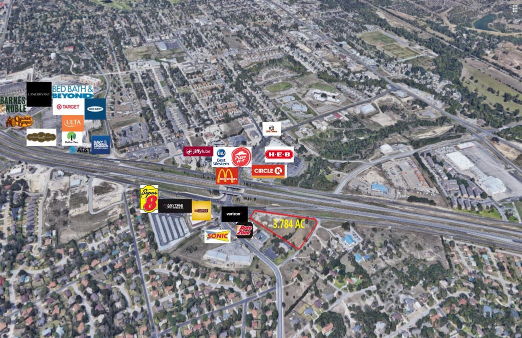 3.784 Acres Central Texas Expressway