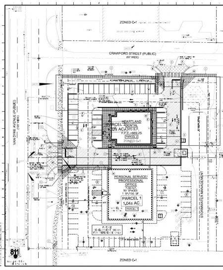 Future Development of Retail Center, South of 56704 Van Dyke - Shelby Township