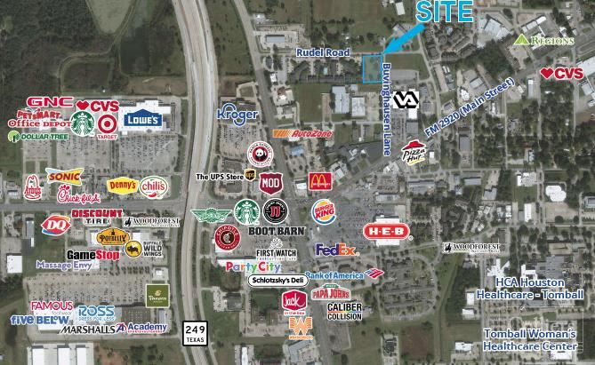 For Sale or Lease | ±1.2725 AC in Tomball, Texas