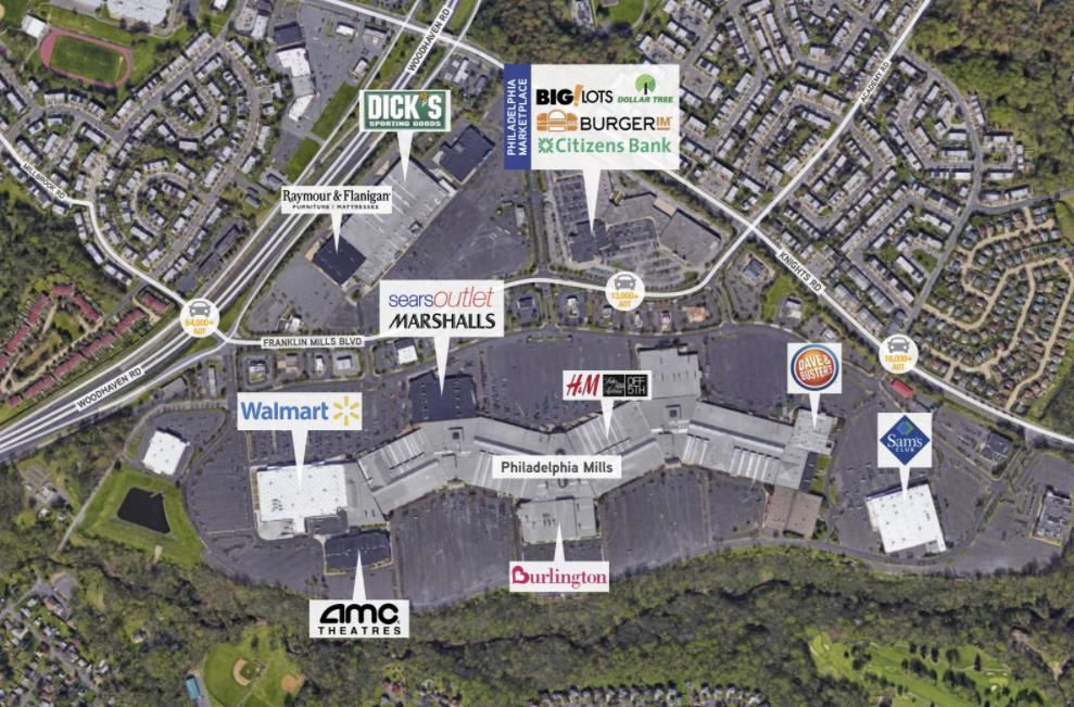 Retail Spaces for Lease on Franklin Mills Blvd