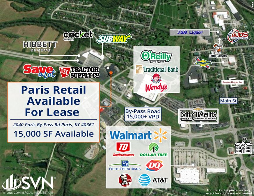 15,000 SF Retail Space For Lease