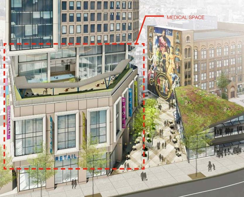 New Construction Retail/Medical Space at Broad & Spring Garden St
