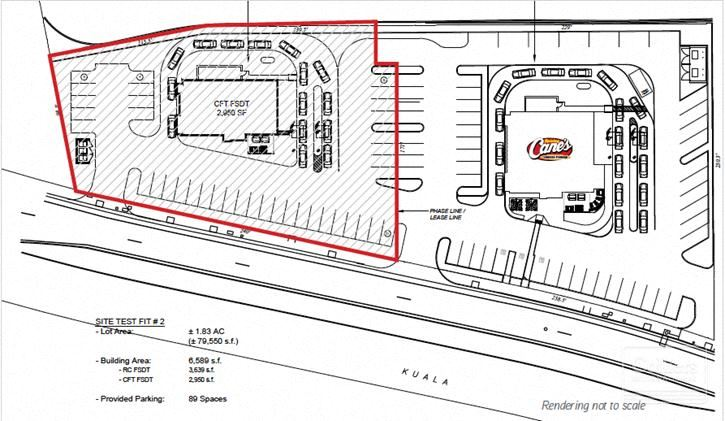 Pad Site with Drive-Thru Capability - available for long-term ground lease